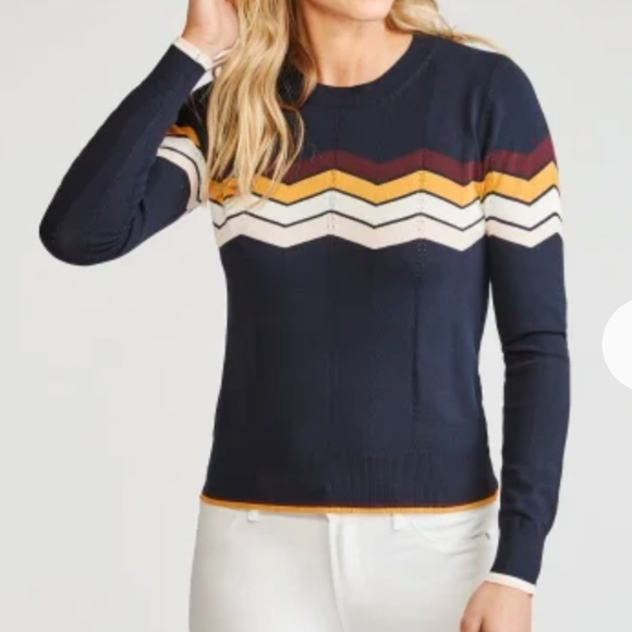 Skies Are Blue Tops - Navy Blue Knit Top